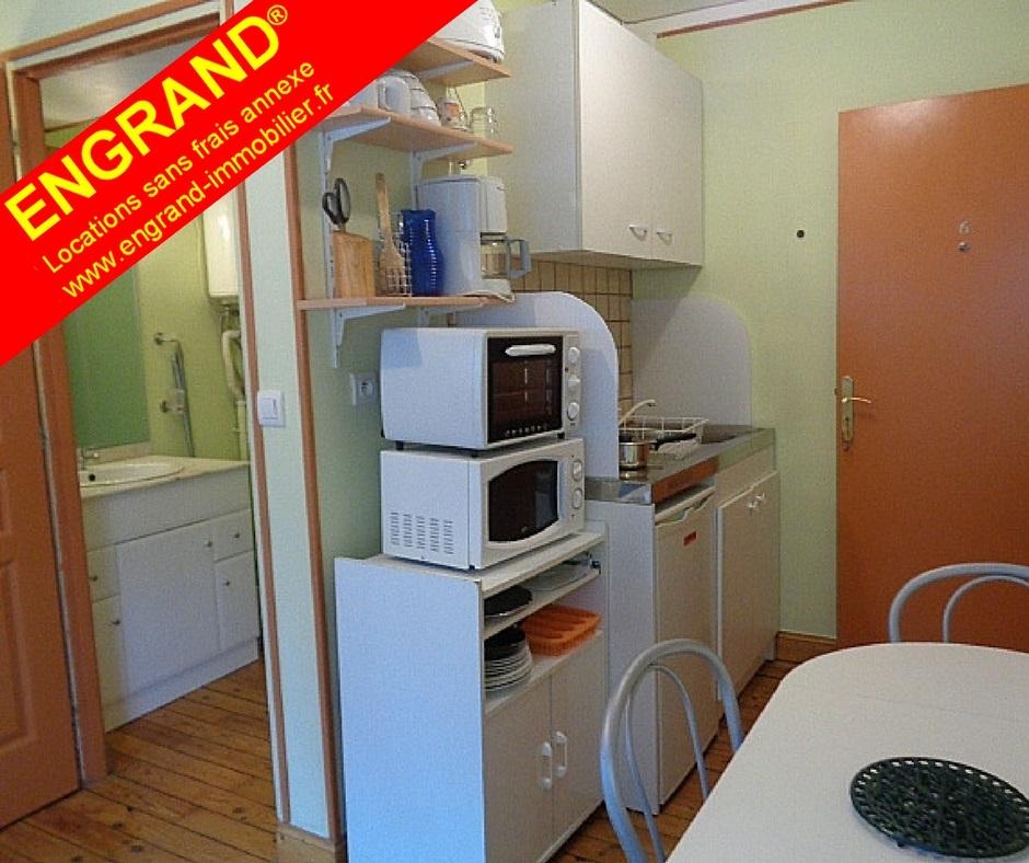 Studio meublé et équipé ENGRAND. www.engrand-immobilier.fr 62000 ARRAS