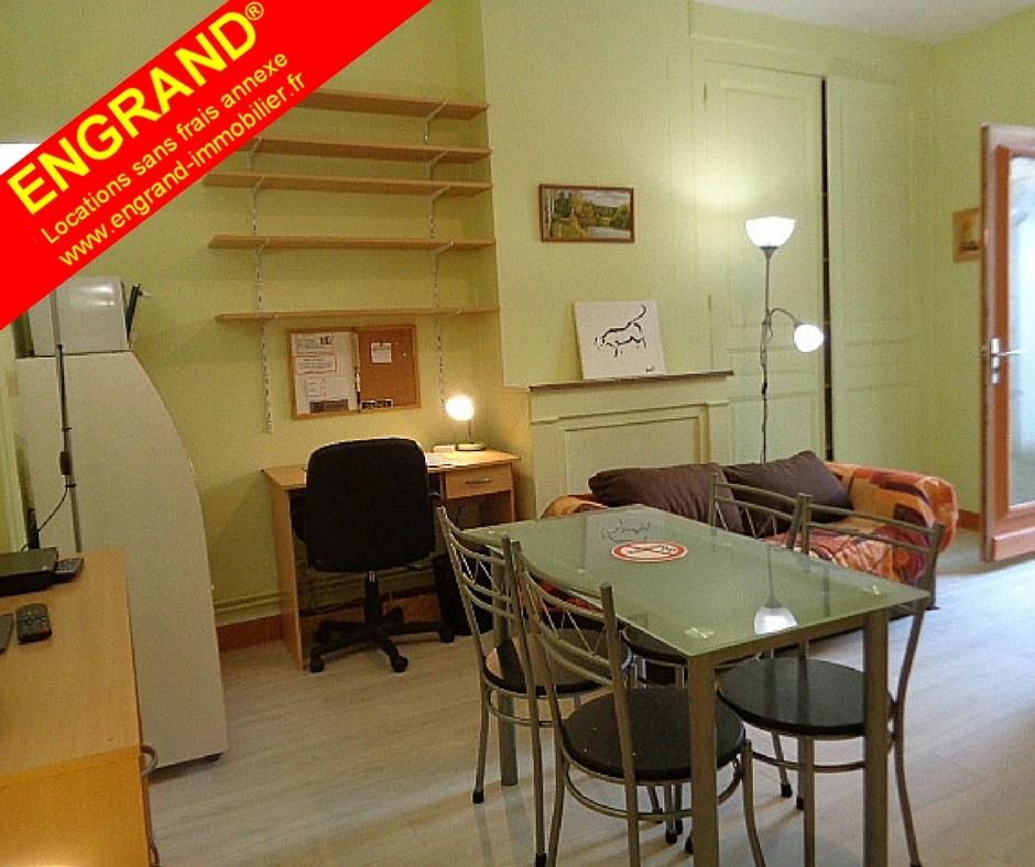 Studio meublé avec cour privée, ARRAS. Marque ENGRAND. www.engrand-immobilier.fr