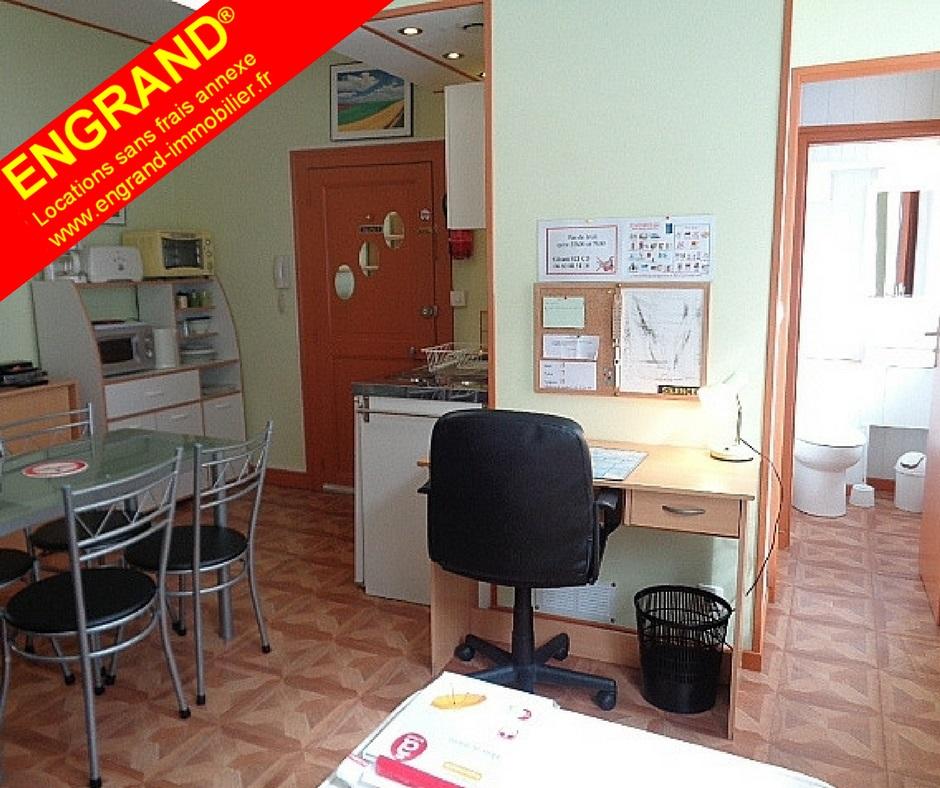 Studio meublé Arras, toutes charges comprises. Marque ENGRAND. www.engrand-immobilier.fr