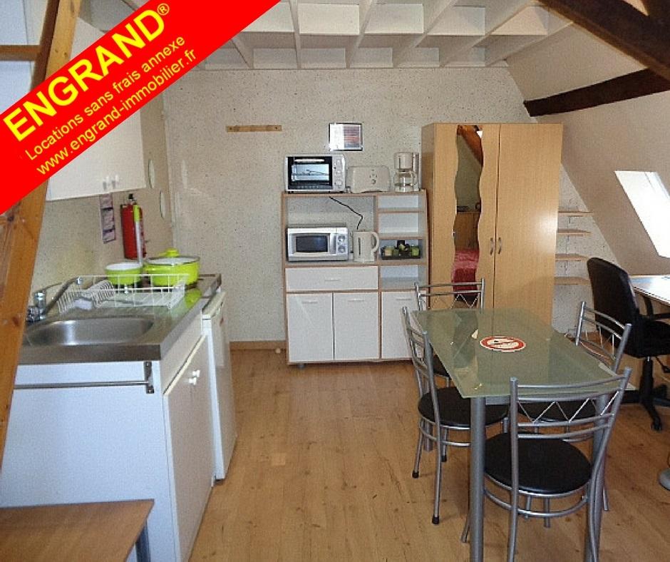 Duplex meublé Arras. Toutes charges comprises, Marque ENGRAND. www.engrand-immobilier.fr
