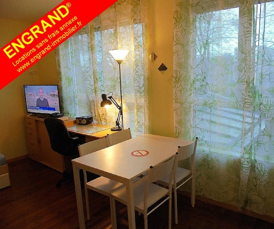 Studio meublé Arras, sans frais annexe, direct propriétaire ENGRAND, www.engrand-immobilier.fr