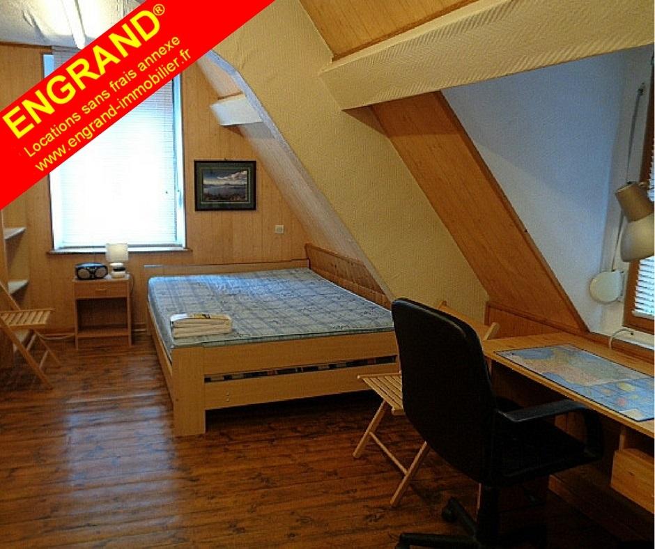 Chambre meublée rue St-Aubert 62000 Arras www.engrand-immobilier.fr